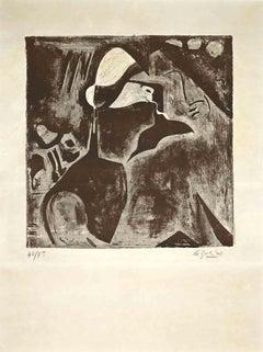 Portrait of Man - Original Lithograph by Jean-Pierre Le Boulet - 1940
