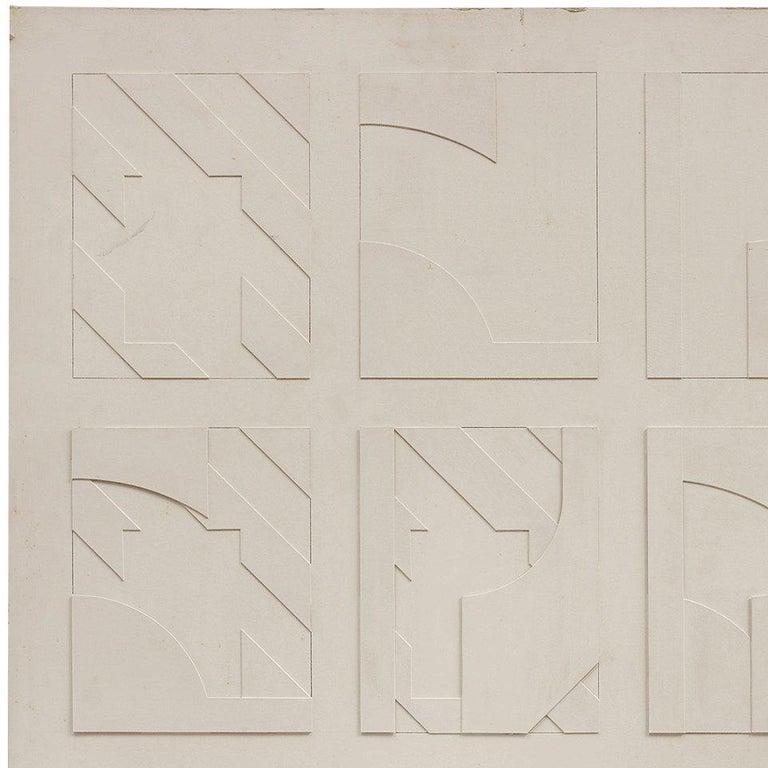 Concstructivist Concrete Monochrome Assemblage Wall Sculpture Painting For Sale 1