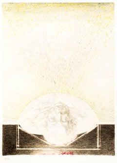 L'Un et l'Autre - Original Mixed Media by J.P. Velly - 1977