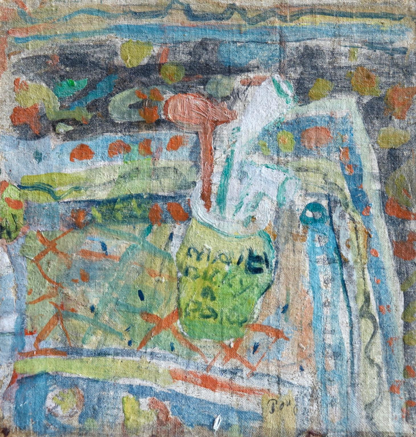 Nature morte au pot à pipe - Impressionist Oil, Still Life by Jean Albert Pougny
