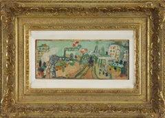 Paysage de Paris (La Ligne de Chemin de Fer) by Jean Pougny - Russian painter