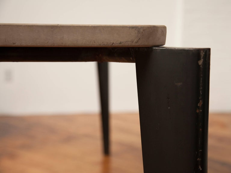 20th Century Jean Prouvé Flavigny Table with Stone Top For Sale