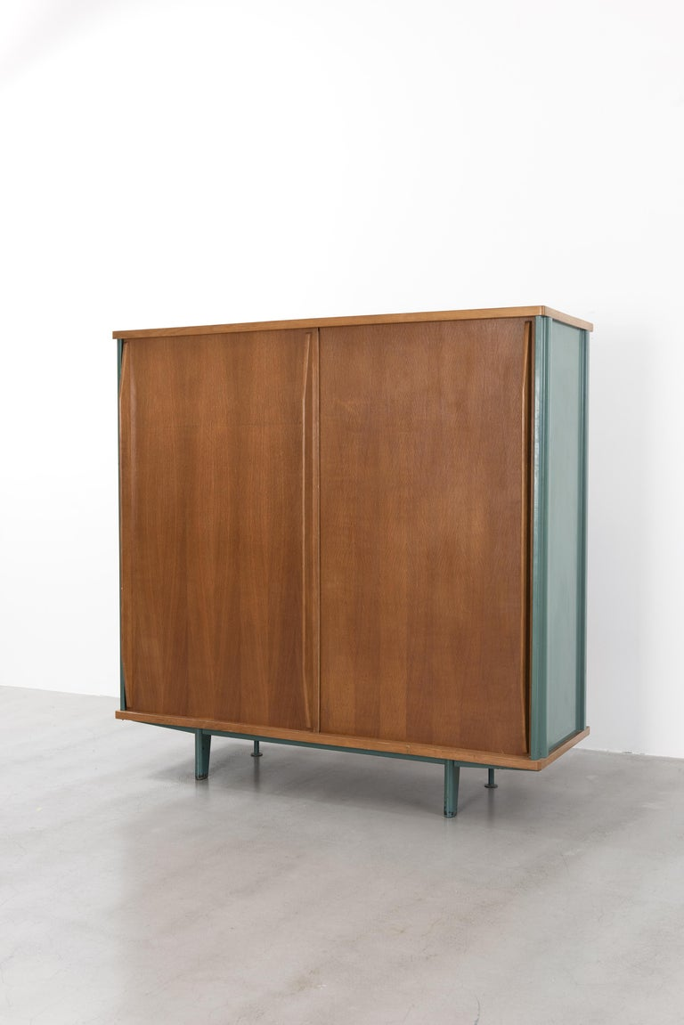 French Jean Prouvé, AG 11 Wardrobe, Variant, 1945-1947 For Sale