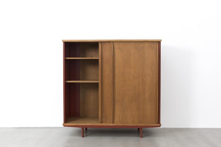 French Jean Prouvé, AG 11 Wardrobe, Variant, 1947 For Sale