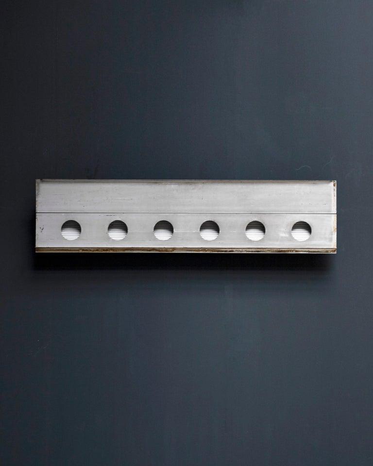 Aluminum fragment by Jean Prouvé, circa 1958  Provenance: Bagnols-sur-Cèze.