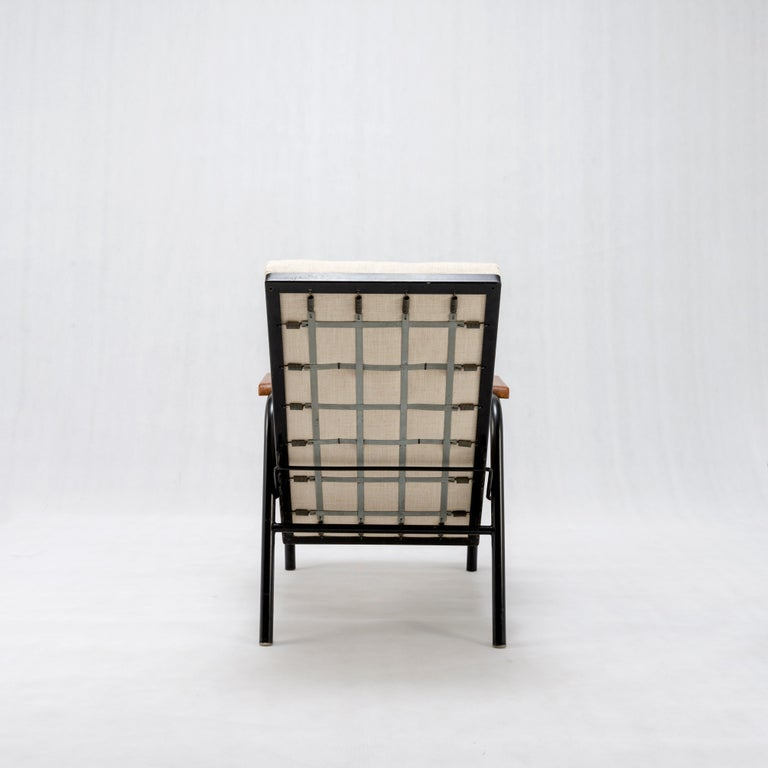 Mid-20th Century Jean Prouvé Armchair with Reclining System - France, circa 1950 For Sale
