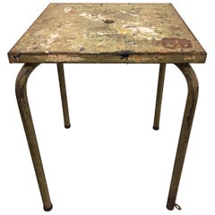 Jean Prouve Attributed Cafe Metal Table in Green