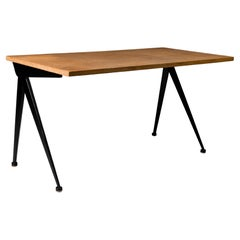 Jean Prouvé Black Compas Desk, 1950s
