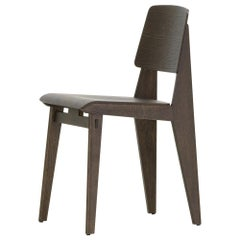 Jean Prouvé 'Chaise Tout Bois' Chair in Dark Oak for Vitra
