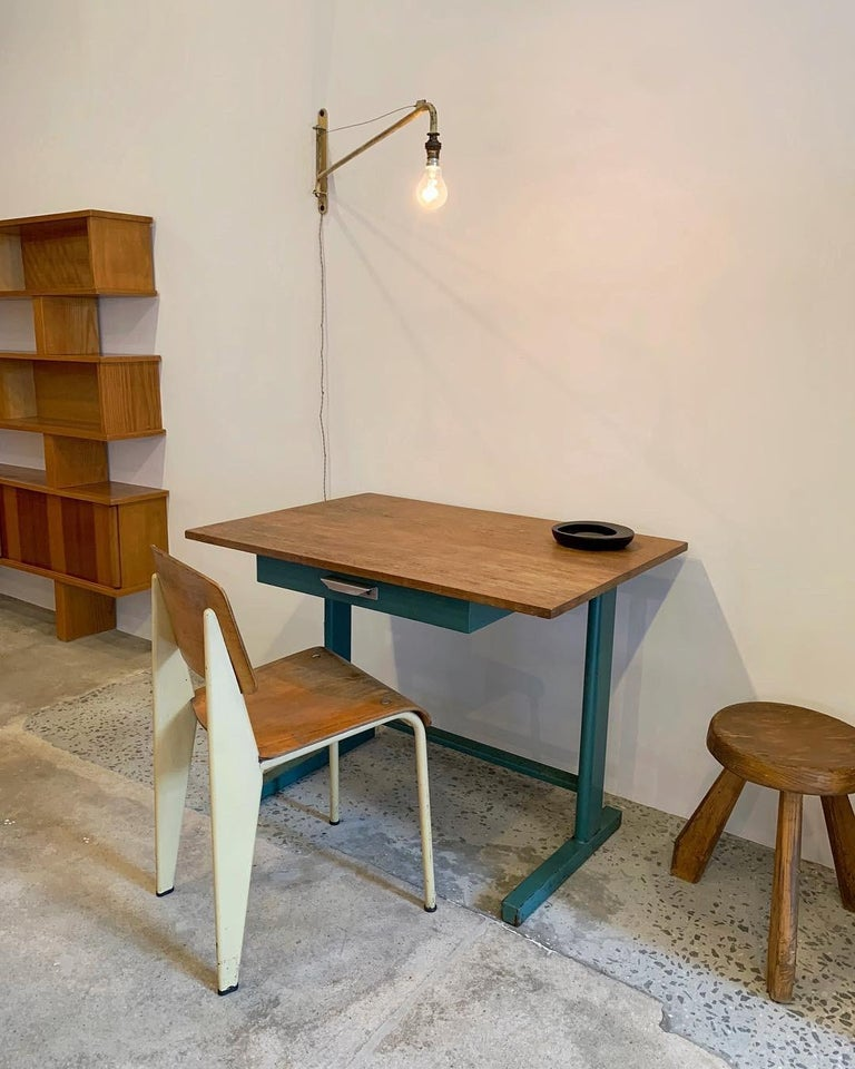 A great example of a Cité desk by Jean Prouvé, and manufactured by Ateliers Jean Prouvé, circa 1950.