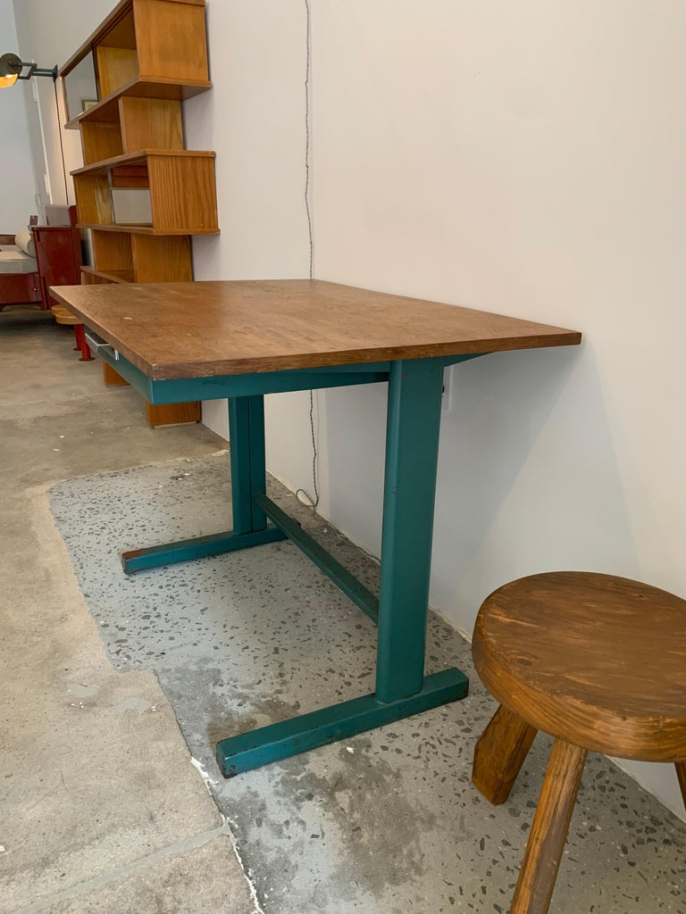 French Jean Prouvé Cité Desk, circa 1950 For Sale