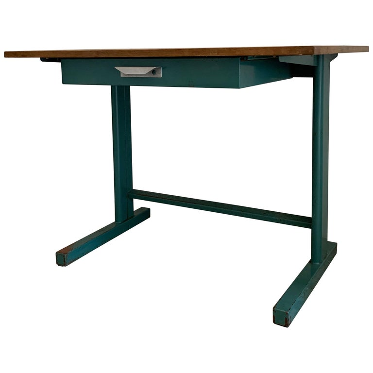 Jean Prouvé Cité Desk, circa 1950 For Sale