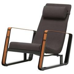 Jean Prouvé Cité Lounge Chair in Black for Vitra