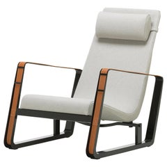 Jean Prouvé Cité Lounge Chair in Gray and Black for Vitra