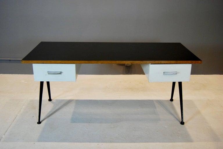 Industrial Jean Prouve Compas Desk, 1950 For Sale