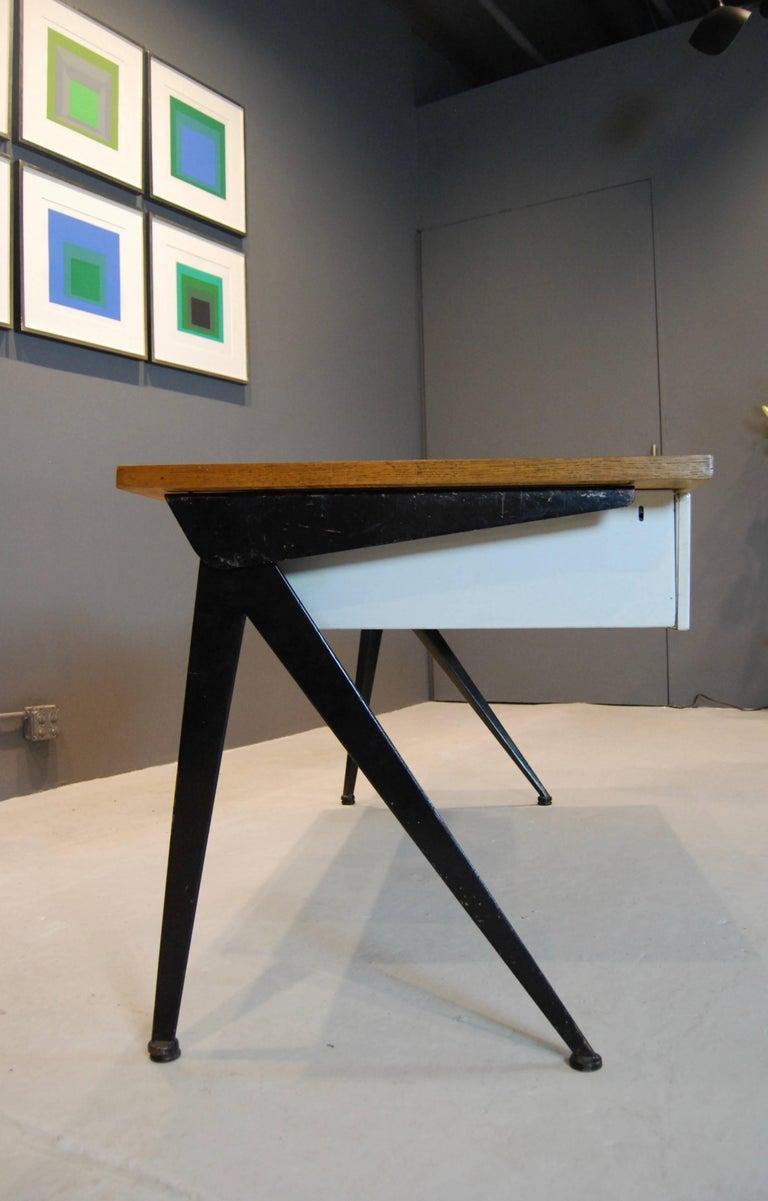 French Jean Prouve Compas Desk, 1950 For Sale