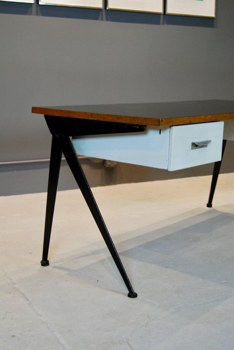Jean Prouve Compas Desk, 1950 In Good Condition For Sale In New York, NY