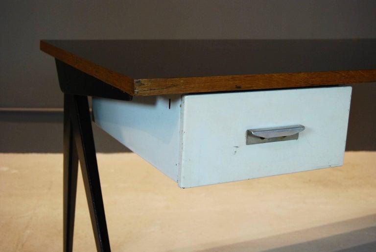 Mid-20th Century Jean Prouve Compas Desk, 1950 For Sale