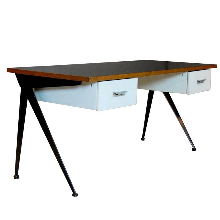 Jean Prouve Compas Desk, 1950 For Sale
