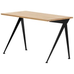 Jean Prouvé Compas Direction Desk in Natural Oak and Black Metal for Vitra