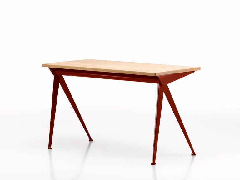Jean Prouvé Compas Direction Desk in Natural Oak and Brown Metal for Vitra 17