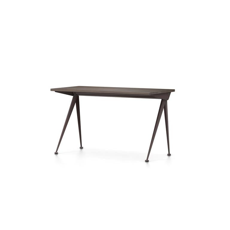Jean Prouvé Compas Direction Desk in Natural Oak and Brown Metal for Vitra 6