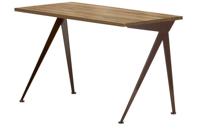 Jean Prouvé Compas Direction Desk in Natural Oak and Brown Metal for Vitra 7