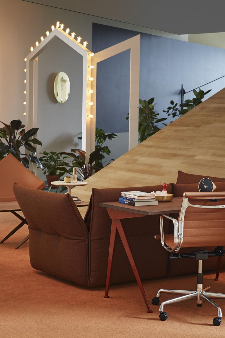 Jean Prouvé Compas Direction Desk in Wood and Metal by Vitra In New Condition In Barcelona, Barcelona