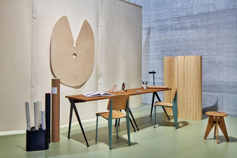 Contemporary Jean Prouvé Compas Direction Desk in Wood and Metal by Vitra