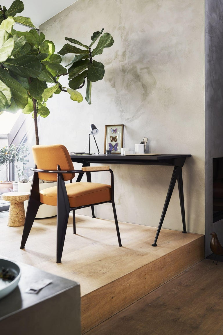 Steel Jean Prouvé Compas Direction Desk in Wood and Metal by Vitra