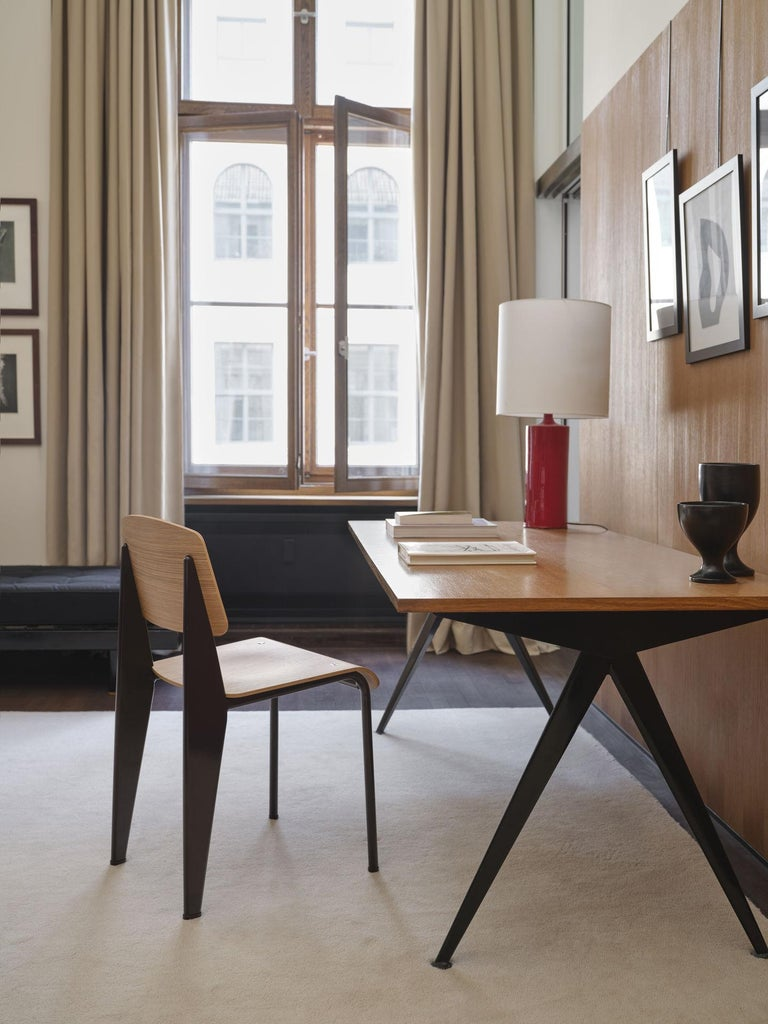 Jean Prouvé Compas Direction Desk in Wood and Metal by Vitra 2