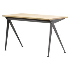 Jean Prouvé Compas Direction Desk in Wood and Metal by Vitra