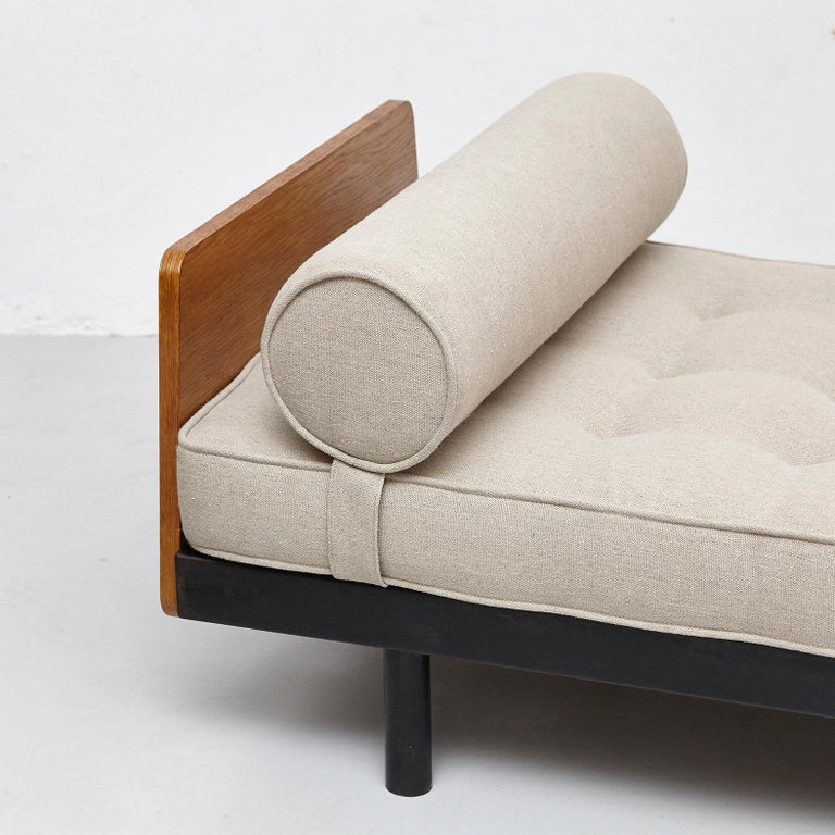 Jean Prouve Daybed in Black Metal and Wood, circa 1950 For Sale 2