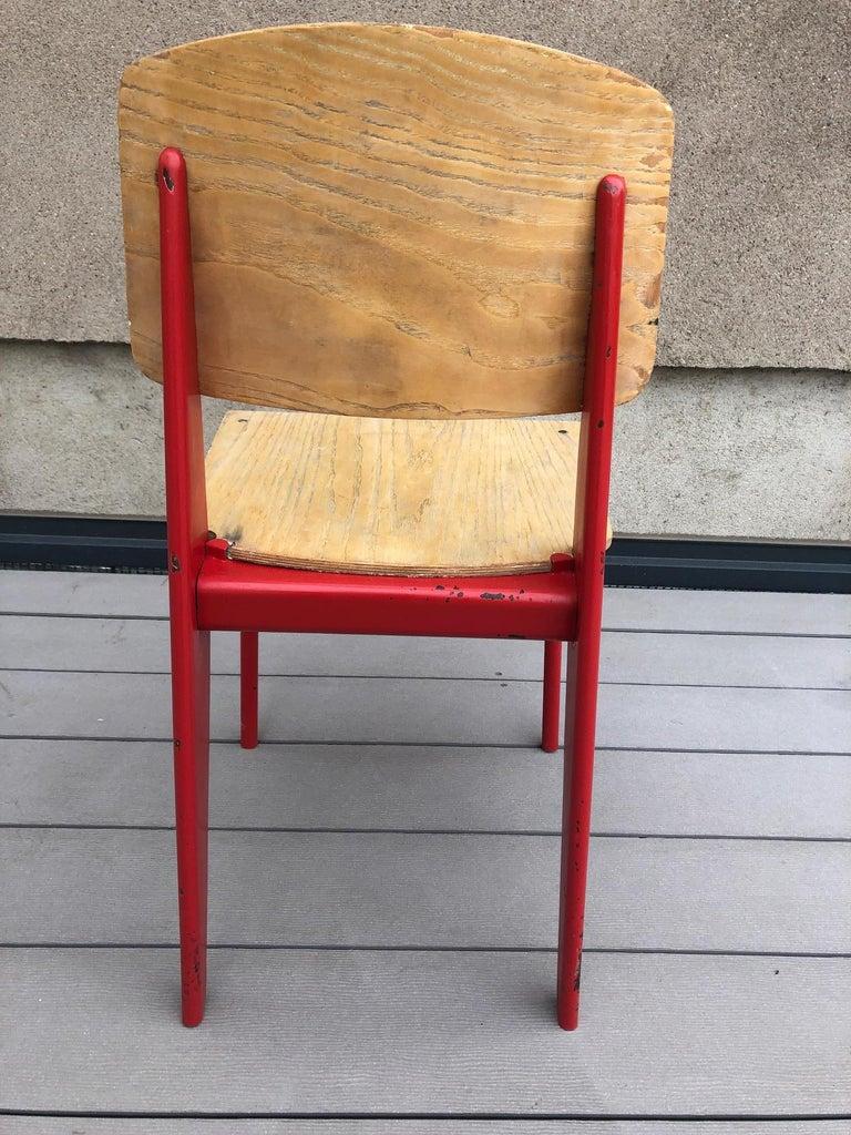 Mid-Century Modern Jean Prouvé Demountable Chair # 300 For Sale
