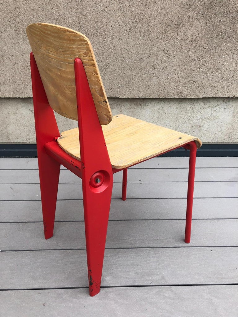 French Jean Prouvé Demountable Chair # 300 For Sale