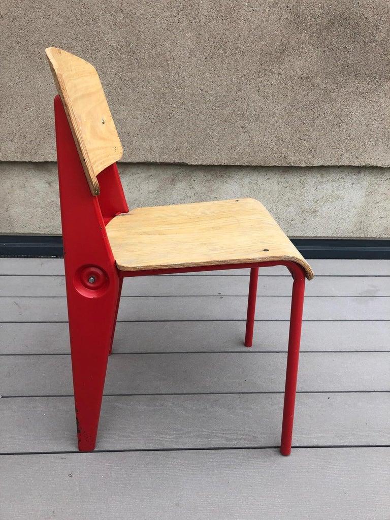 1950s Jean Prouvé Demountable Chair # 300 For Sale