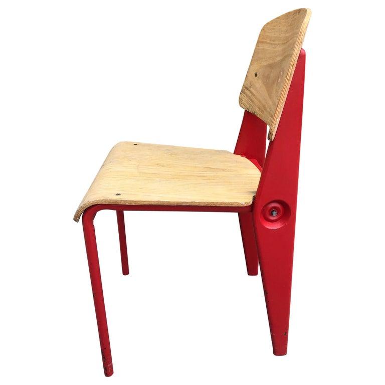 Jean Prouvé Demountable Chair # 300 For Sale