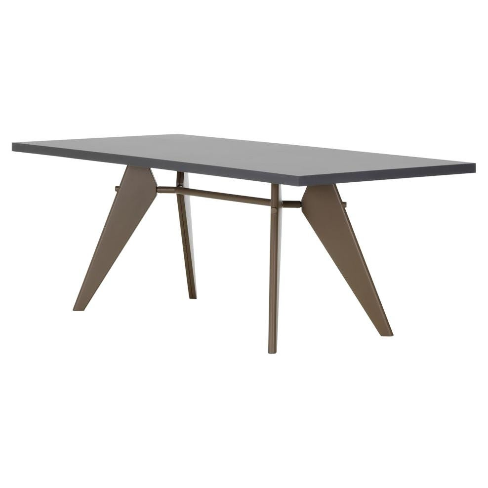 Jean Prouvé EM Table in HPL and Steel by Vitra