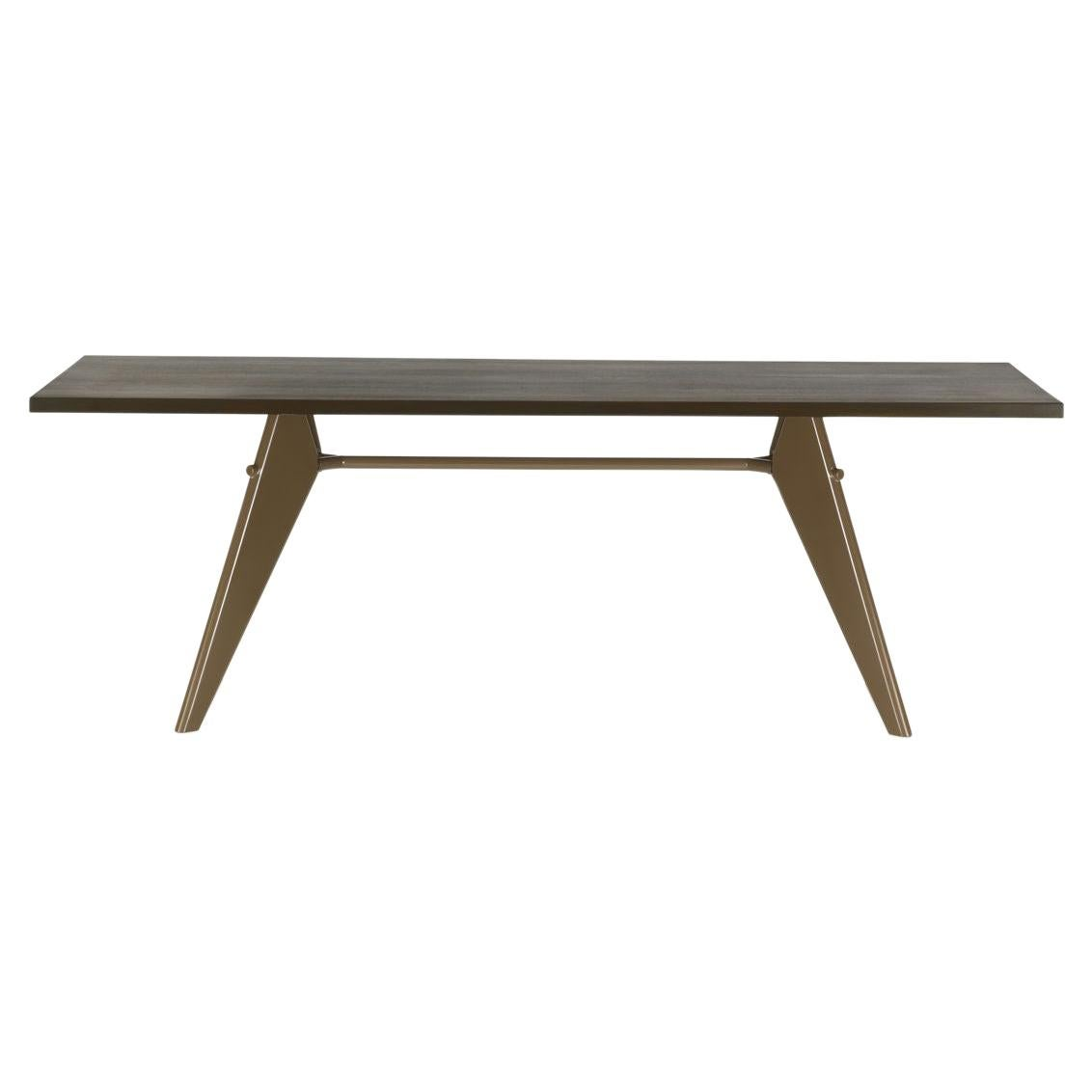 Jean Prouvé EM Table in Wood and Steel by Vitra