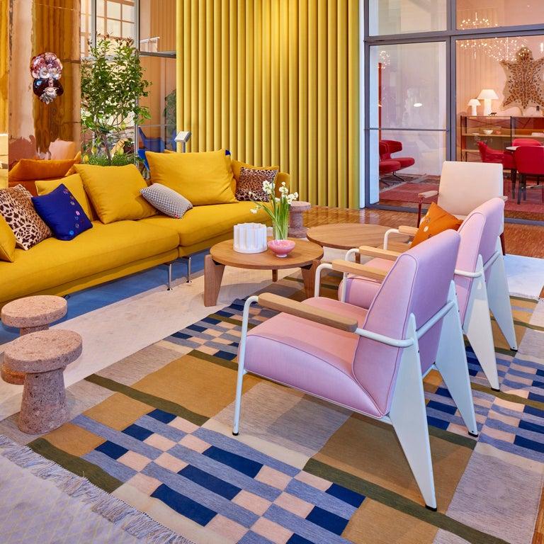 Jean Prouvé Fauteuil de Salon Armchair in Fabirc by Vitra For Sale 6