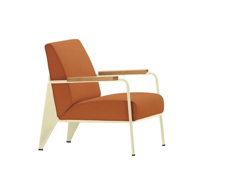 Jean Prouvé Fauteuil de Salon Armchair in Fabirc by Vitra For Sale 9