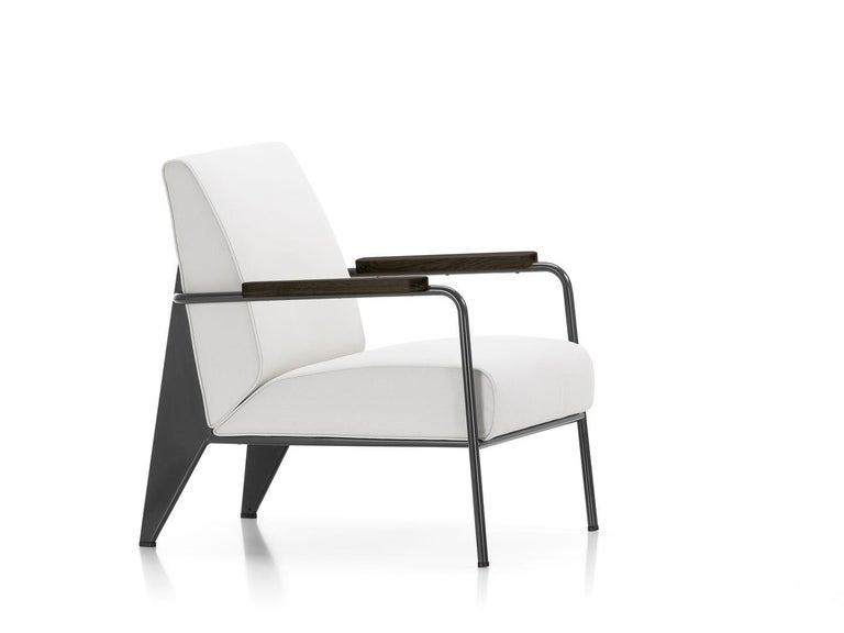 Jean Prouvé Fauteuil de Salon Armchair in Fabirc by Vitra For Sale 10