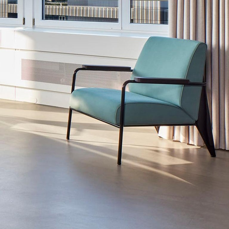 Swiss Jean Prouvé Fauteuil de Salon Armchair in Fabirc by Vitra For Sale