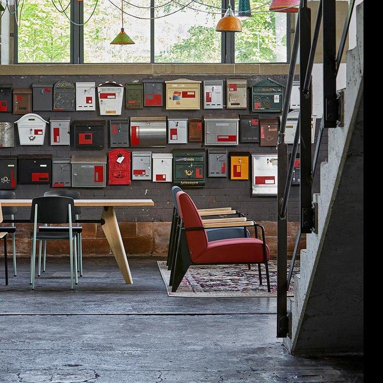 Contemporary Jean Prouvé Fauteuil de Salon Armchair in Fabirc by Vitra For Sale