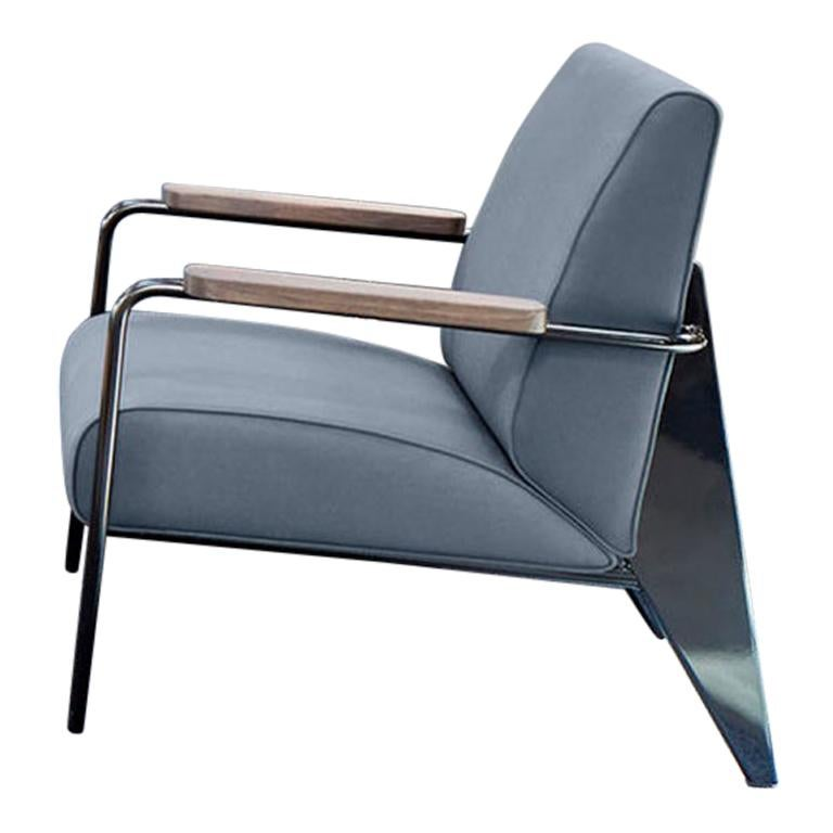 Jean Prouvé Fauteuil de Salon Armchair in Fabirc by Vitra For Sale