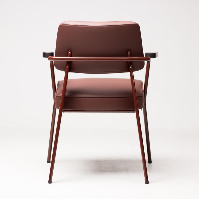 Jean Prouvé Fauteuil Direction, Japanese Red For Sale 2