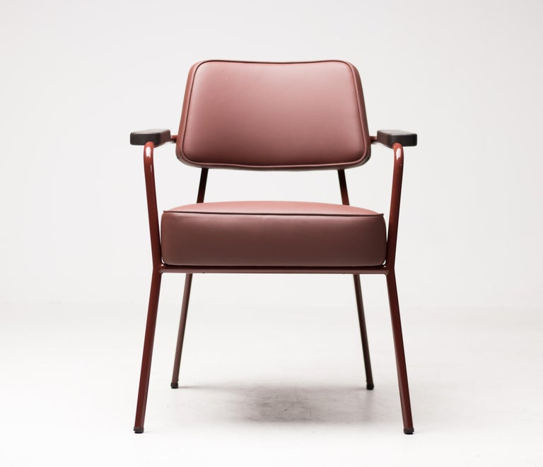 Jean Prouvé Fauteuil Direction, Japanese Red For Sale 3