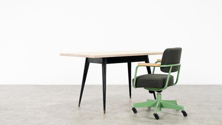 Jean Prouvé, Fauteuil Direction Pivotant 1951 Limited RAW Office Edit, Chair For Sale 10