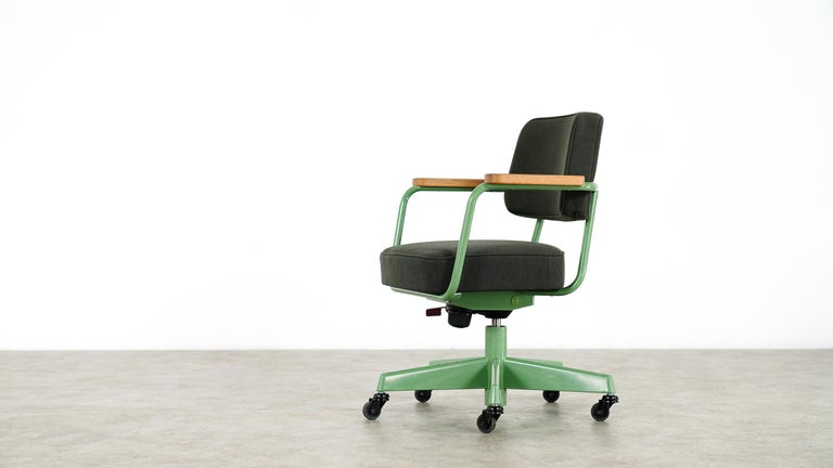 Modern Jean Prouvé, Fauteuil Direction Pivotant 1951 Limited RAW Office Edit, Chair For Sale