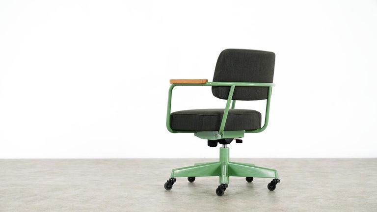 Contemporary Jean Prouvé, Fauteuil Direction Pivotant 1951 Limited RAW Office Edit, Chair For Sale